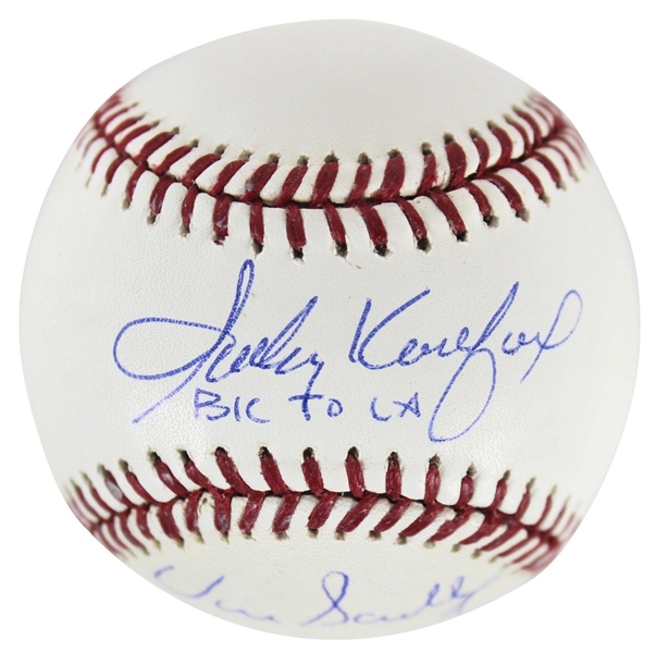 BK to LA: Sandy Koufax & Vin Scully Dual-Signed OML Baseball (BAS/Beckett & Steiner)