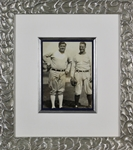 "Yankee Icons: Babe Ruth & Lou Gehrig Stunning Dual-Signed 6"" x 8"" Framed Photograph w/ Desirable Uninscribed Signatures (PSA/DNA)"