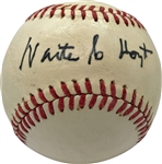 1927 Yankees Singles: Waite Hoyt Rare Single Signed Official League Baseball (Beckett/BAS Guaranteed)