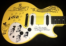 Yellow Submarine: Artist Ron Campbell Ultra-Rare Signed & Hand-Drawn Epiphone Guitar w/ Original Artwork (BAS/Beckett Guaranteed)