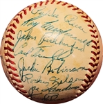 1952 Brooklyn Dodgers Team Signed Baseball w/Campanella, Robinson, Reese, etc (PSA/DNA)