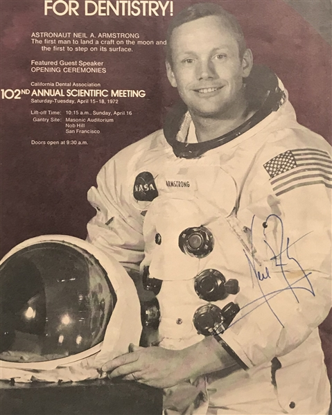 Apollo 11: Neil Armstrong Signed Un-Inscribed 8 x 10 Magazine NASA Photograph (PSA/DNA)