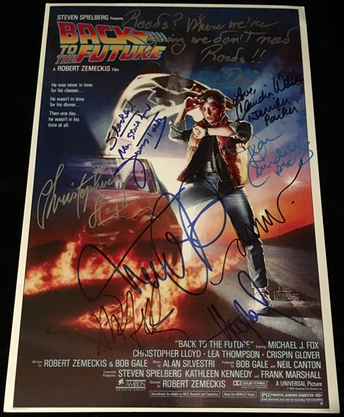 Back the Future 2 Multi-Signed 12 x 18 Movie Poster w/ Michael J. Fox, Christopher Lloyd and 6 More (Beckett/BAS Guaranteed)