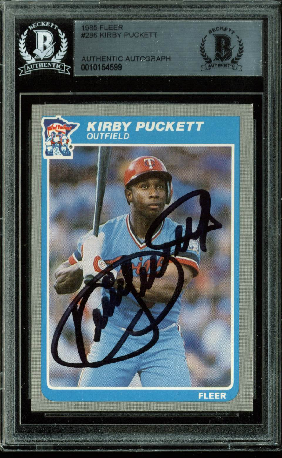 Lot Detail Kirby Puckett Rare Signed 1985 Fleer Rookie