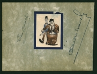 "Stan Laurel & Oliver Hardy Signed 4"" x 6"" Album Page (Beckett/BAS)"
