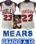 Michael Jordan Game Used/Worn & Signed 1988 Chicago Bulls Jersey (Bulls, Beckett/BAS & MEARS A-10!)
