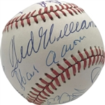 500 Home Run Club Signed OAL Baseball w/ 12 Members Including Mantle & Williams! (JSA)