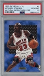 Michael Jordan 1995 Skybox E-XL Natural Born Thrillers #1 Card - PSA GEM MINT 10!