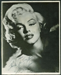 "Marilyn Monroe Spectacular Signed 8"" x 10"" Black & White Portrait Photograph (BAS/Beckett)"