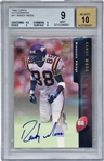 Randy Moss Signed 1998 Topps Autographs Rookie Card BGS 9 w/ 10 Auto!