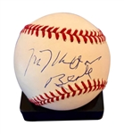 Milton Berle In-Person Signed OAL Baseball (Beckett/BAS Guaranteed)