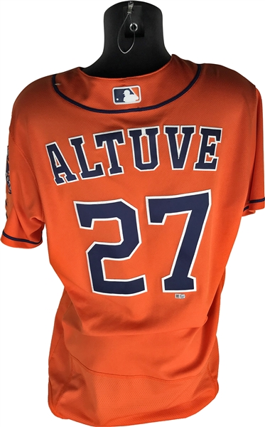 2016 Jose Altuve Game Worn PHOTO MATCHED Houston Astros Road Jersey from 4/21/2016 Game vs. Texas Rangers! (MLB)