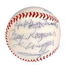 Roy Rogers & Dale Evans Dual-Signed OAL Baseball (Beckett/BAS Guaranteed)