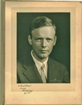 "Charles Lindbergh Signed Over-Sized 14"" x 10"" Wilson Mantor Photograph (PSA/DNA)"