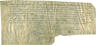 King Louis XIV Signed 1685 Royal Document (PSA/DNA)