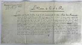 "King Louis XVI Signed 19.25"" x 14.5"" Military Appointment Document (PSA/DNA)"