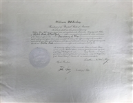 William McKinley Signed 1899 Presidential Cabinet Secretary of War Appointment! (Beckett/BAS Guaranteed)