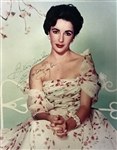 "Elizabeth Taylor Signed Stunning Over-Sized 16"" x 20"" Color Photograph (PSA/DNA)"