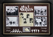 "The Beatles Group Signed 44"" x 31"" Display w/ All Four Members (Beckett/BAS & PSA/DNA)"