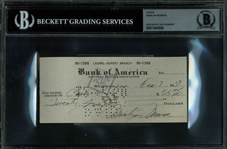 Marilyn Monroe Signed & Hand Written 1953 Bank Check (Beckett/BAS Encapsulated)