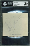 "Marilyn Monroe Boldly Signed 5"" x 4.5"" Album Page (Beckett/BAS Encapsulated)"