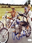 "Easy Rider Cast Signed 8"" x 10"" Color Photo with Jack Nichsolson, Dennis Hopper & Peter Fonda (JSA)"