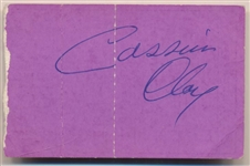 Cassius Clay Signed Liston vs. Patterson II 1963 Fight Ticket That Set Up Ali/Liston Super Fight! (JSA)