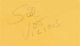 Sex Pistols: Sid Vicious Rare Vintage Signed Autograph Cut (BAS/Beckett Encapsulated)