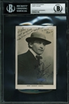 "Harry Houdini Superb Signed & Dated 1914 3.5"" x 5.5"" Portrait Photograph (BAS/Beckett Encapsulated)"