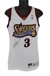 Allen Iverson Signed & Game Used 1997-98 Champion 76ers Jersey (BAS/Beckett & GU LOA)