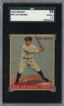 Lou Gehrig Original 1933 Goudey #92 Baseball Card - SGC Graded GOOD+ 2.5