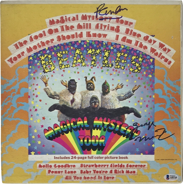 The Beatles: Paul McCartney & George Martin Signed Magical Mystery Tour Album (Beckett/BAS)