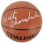 Wilt Chamberlain Signed Spalding NBA Leather Game Model Basketball - Beckett/BAS Graded GEM MINT 10!