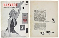 Playboy: Original Issue #1 Featuring Marilyn Monroe (Dec. 1953) Signed by Hugh Hefner! (BAS/Beckett Graded GEM MINT 10)