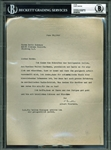 Albert Einstein Typed & Signed 1946 Letter in German (BAS/Beckett Graded GEM MINT 10)