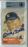 Mickey Mantle Signed 1953 Topps #82 (Beckett/BAS Graded GEM MINT 10)