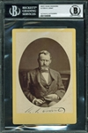 Ulysses S. Grant Rare Signed CDV Portrait Photograph (Beckett/BAS Encapsulated)