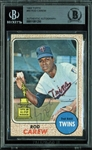 Rod Carew Signed 1968 Topps All-Star Rookie Card (#80) (Beckett/BAS Encapsulated)