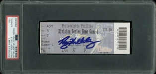 Roy Halladay Signed Oct. 6, 2010 Post-Season No Hitter Ticket (PSA/DNA Encapsulated)