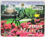 Tiger Woods Signed 2005 Masters Badge (Masters Win)(JSA)