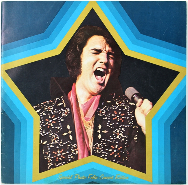 Elvis Presley Rare Signed Las Vegas Hilton Concert Photo Book (Beckett/BAS)