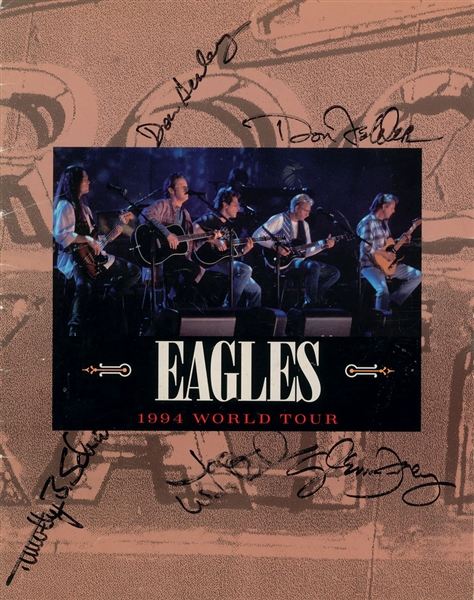 The Eagles: Band Signed 1994 World Tour Program w/ Henley, Frey, Walsh, Felder & Schmit (JSA)