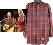Neil Young 2004 Stage Worn Abercrombie & Fitch Flannel Shirt - Worn In 2004 Performance w/Paul McCartney! (Neil Young Collection)