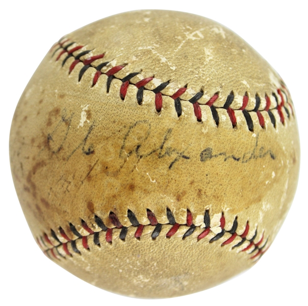 Extraordinarily Rare Grover Cleveland Alexander Single Signed Baseball (PSA/DNA)