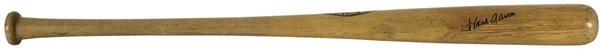 Hank Aaron Game Used & Signed H&B Louisville Slugger Baseball Bat c. 1969-72 - MEARS Graded A-8!