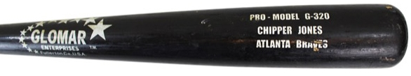 Chipper Jones Game Used 1998 G-320 Baseball Bat - PSA/DNA GU 9.5!