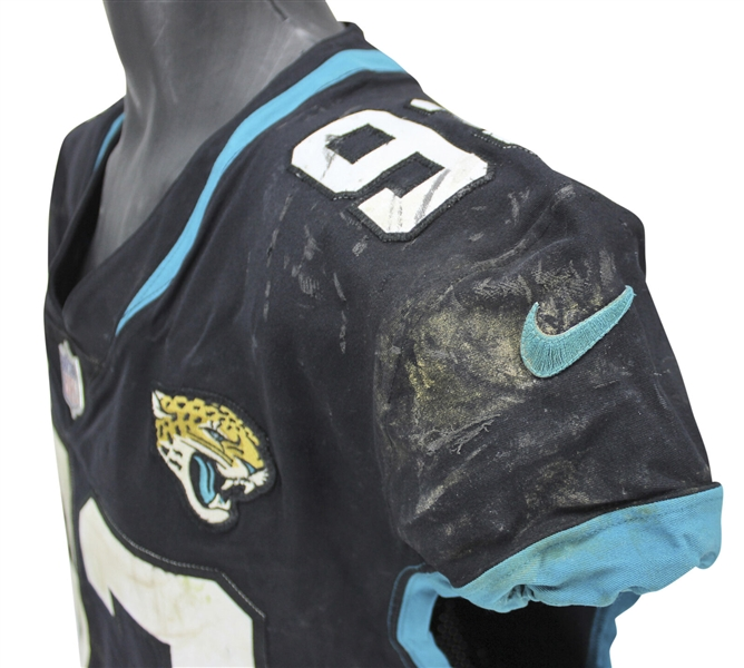 Calais Campbell Game Used Jacksonville Jaguars - 10/28/18 vs. Philadelphia Eagles (PSA/DNA)