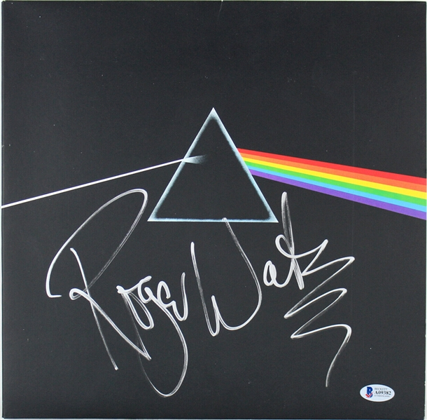 Pink Floyd: Roger Waters Bold & Impressive Signed Dark Side Of The Moon Album (Beckett/BAS)