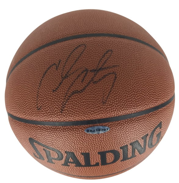 Carmelo Anthony Signed NBA Game Basketball (Upper Deck)