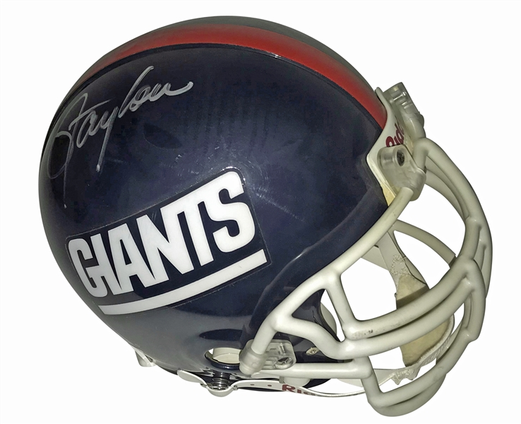 Lawrence Taylor Signed PROLINE Giants Personal Style Helmet (Steiner Sports)